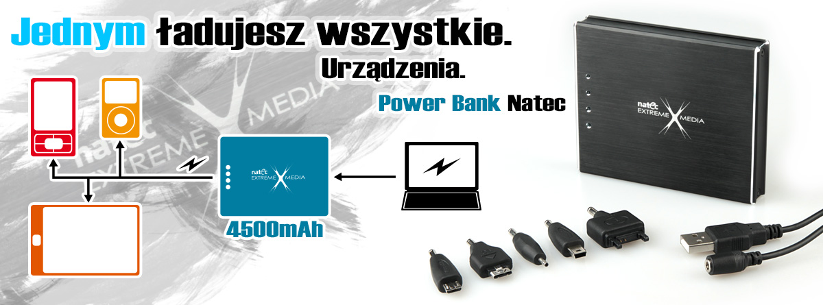 NATEC Power Bank   EXTREME MEDIA PB-4500