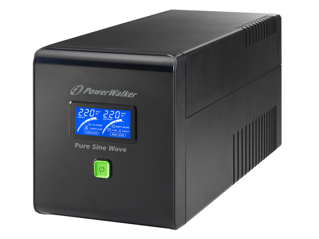 UPS POWERWALKER LINE-INTERACTIVE 1000VA 4X IEC 230V, PURE SINE WAVE, RJ11/45 IN/OUT, USB, LCD