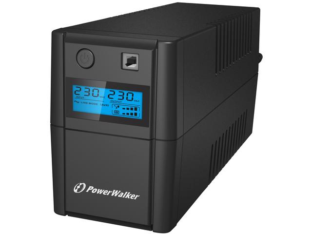 UPS POWERWALKER LINE-INTERACTIVE 650VA 2X 230V PL, RJ11 IN/OUT, USB, LCD