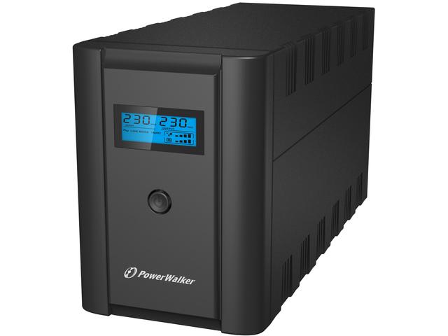UPS POWERWALKER LINE-INTERACTIVE 1200VA 2X 230V PL + 2X IEC C13, RJ11/RJ45 IN/OUT, USB, LCD