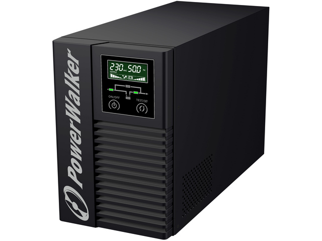 UPS POWERWALKER ON-LINE 2000VA 6X IEC OUT, 2XRS-232/1XUSB, LCD, TOWER