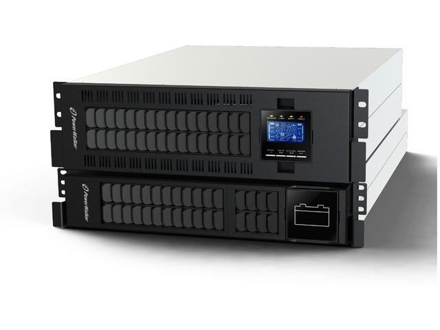 UPS POWERWALKER ON-LINE 10000VA ZŁĄCZE TERMINALOWE IN/OUT, LCD, UPS 3U + MODUŁ BATERYJNY 2U