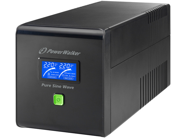 UPS POWERWALKER LINE-INTERACTIVE 1000VA 4X 230V PL, PURE SINE WAVE, RJ11/45 IN/OUT, USB, LCD