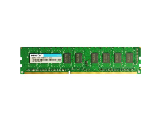 PAMIĘĆ RAM ASUSTOR AS7R-RAM8GEC ECC UDIMM 8GB DDR3-1600 240PIN DLA AS7009RDX / AS7012RDX