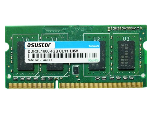 PAMIĘĆ RAM ASUSTOR AS5-RAM4G SO-DIMM 4GB DDR3L-1600 204PIN DLA AS61 / AS62