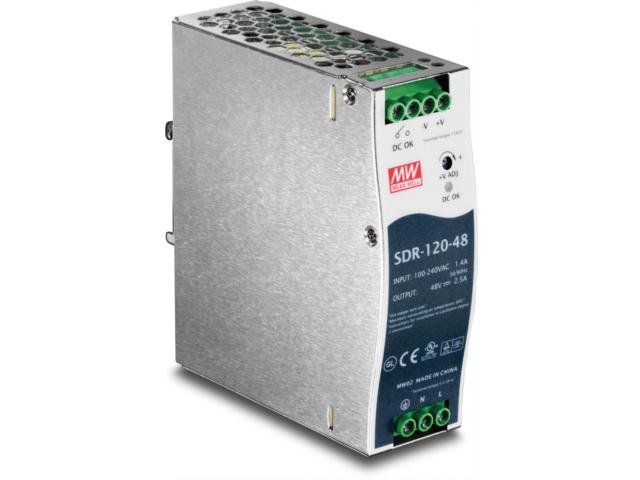 ZASILACZ PRZEMYSŁOWY TRENDNET TI-S12048 120W DIN RAIL