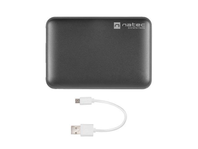 POWER BANK NATEC EXTREME MEDIA TREVI COMPACT 5000MAH 2X USB-A + 1X USB-C CZARNY
