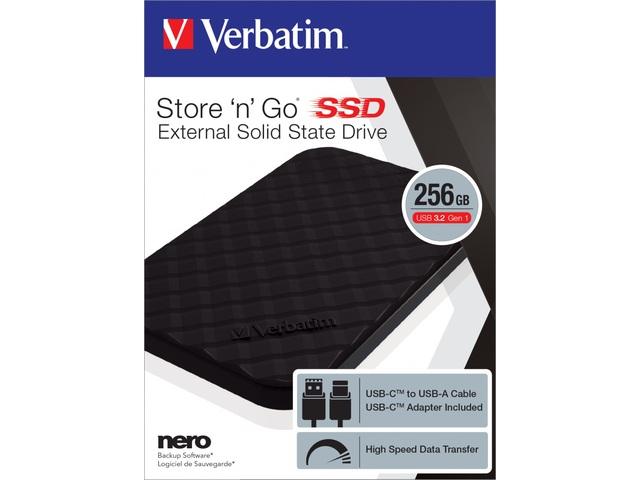 DYSK ZEWNĘTRZNY VERBATIM SSD STORE N GO 256GB 2,5