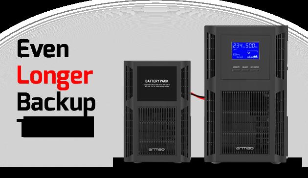 bundle ups on-line tower 2000va + battery pack armac 1