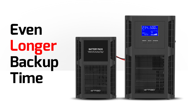 bundle ups on-line tower 3000va + battery pack armac 1
