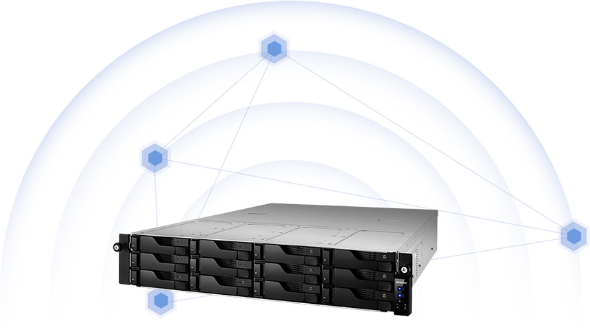 network attached storage 2u rack, 12hdd bay, 2x m.2 slot asustor lockerstor 12r pro as7112rdx 14
