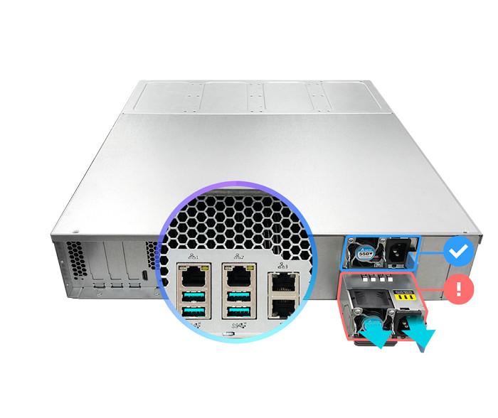 network attached storage 3u rack, 16hdd bay, 2x m.2 slot asustor lockerstor 16r pro as7116rdx 8