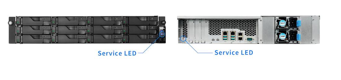 network attached storage 3u rack, 16hdd bay, 2x m.2 slot asustor lockerstor 16r pro as7116rdx 10