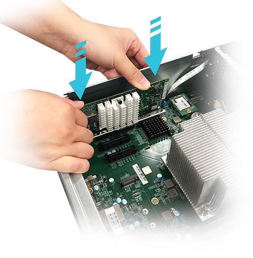 network attached storage 3u rack, 16hdd bay, 2x m.2 slot asustor lockerstor 16r pro as7116rdx 11