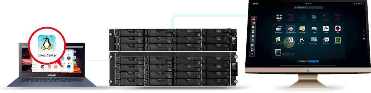 network attached storage 3u rack, 16hdd bay, 2x m.2 slot asustor lockerstor 16r pro as7116rdx 28