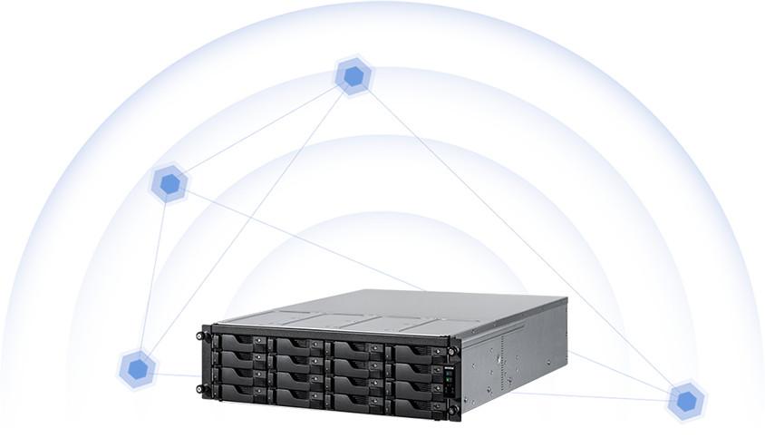 network attached storage 3u rack, 16hdd bay, 2x m.2 slot asustor lockerstor 16r pro as7116rdx 14