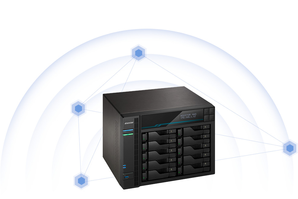 network attached storage tower, 10-bay, asustor as7110t lockerstor 10 pro 13
