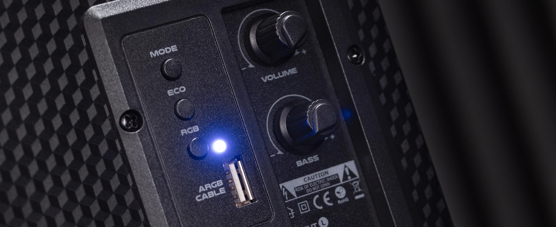 speakers genesis helium 300bt 2.0 bluetooth argb 3