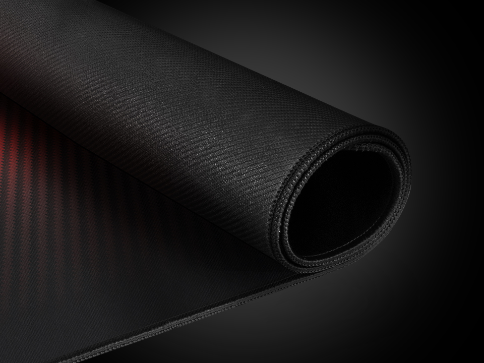 mouse pad genesis carbon 500 ultra blaze 110x45 red 6