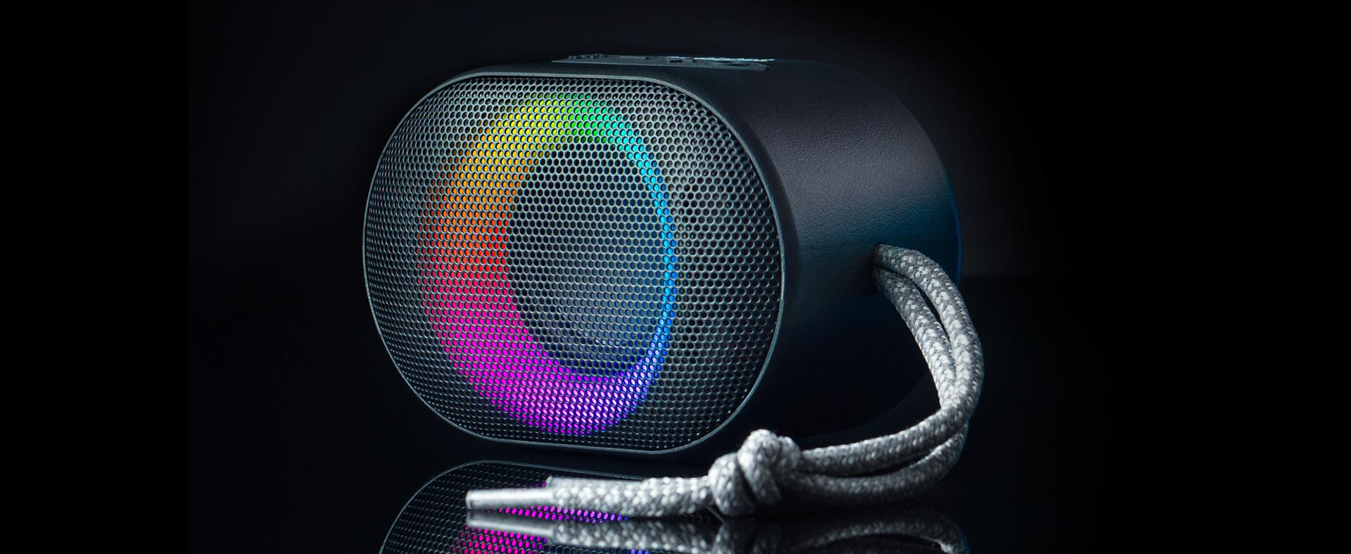 bluetooth speaker audictus aurora mini 7w rgb black 4