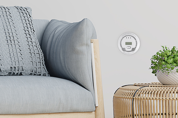 co (carbon monoxide) detector lanberg indoor +bulit-in thermometer 8