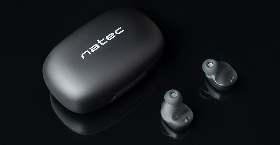 earphones natec soho tws wireless microphone black 3