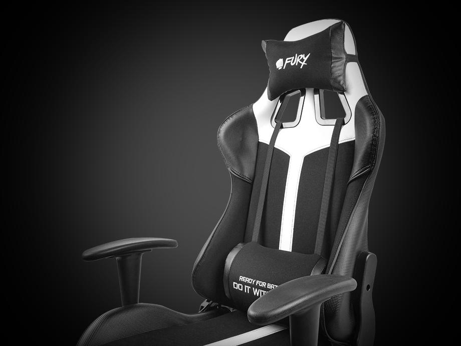gaming chair fury avenger xl white 7