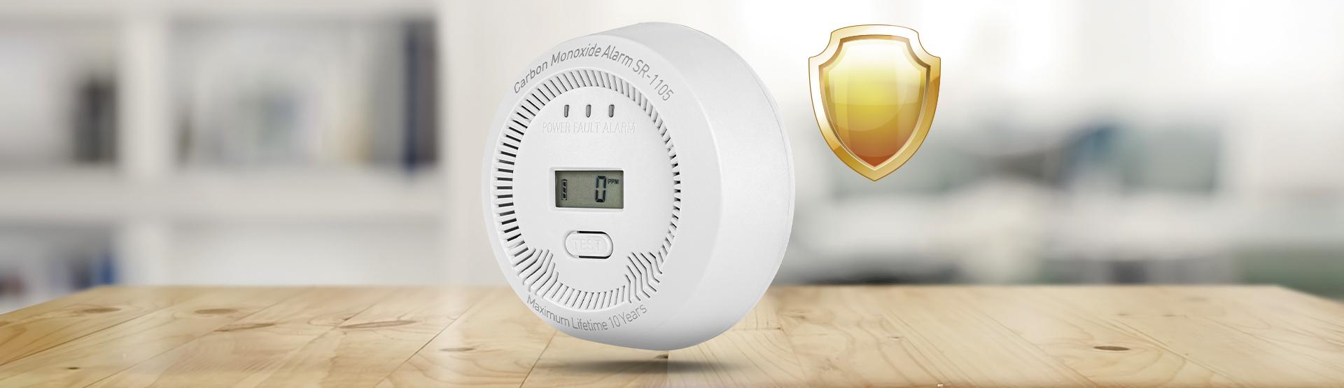 co (carbon monoxide) detector lanberg indoor +bulit-in thermometer 5