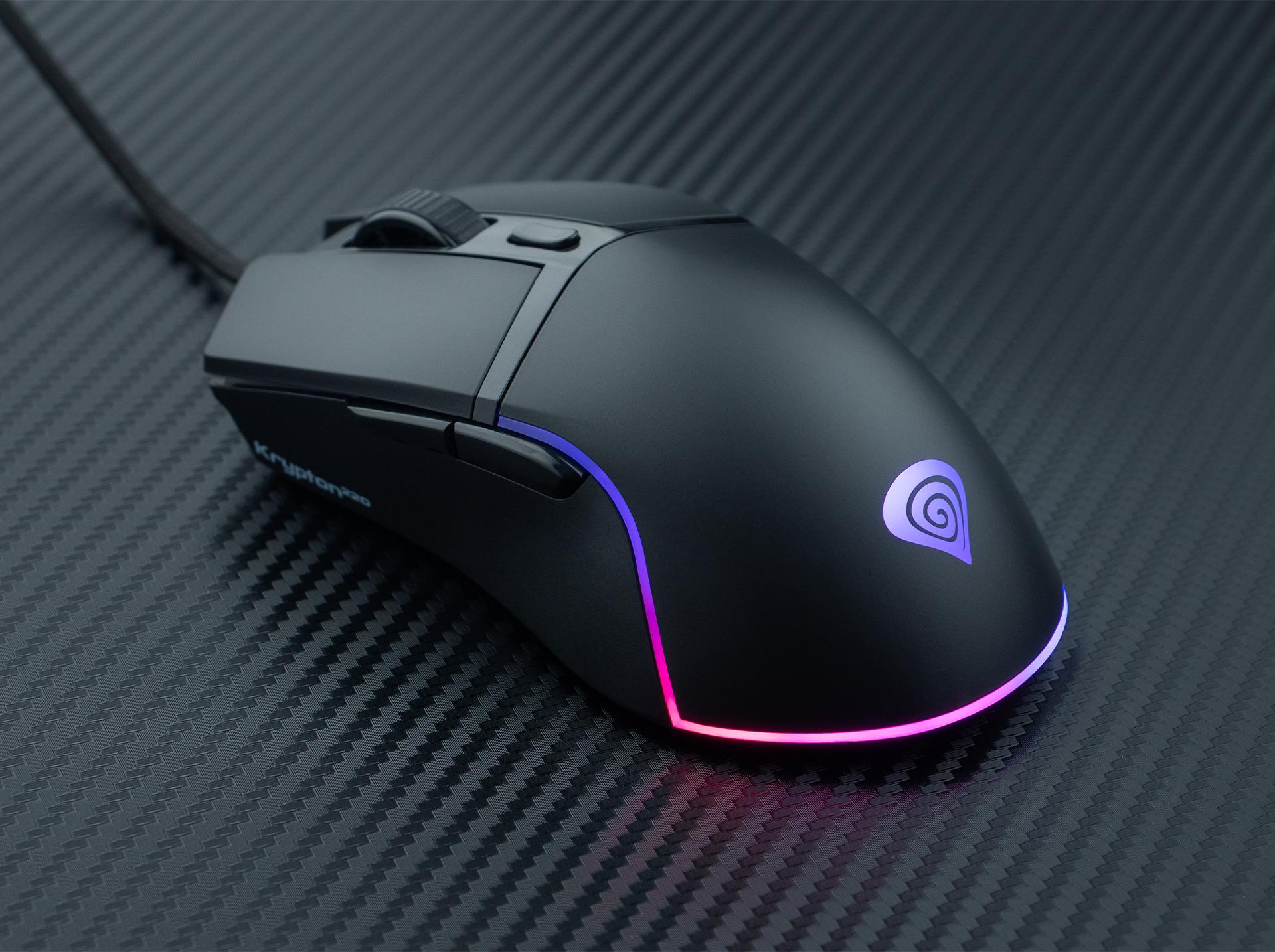 gaming mouse genesis krypton 220 6400 dpi rgb black software 3