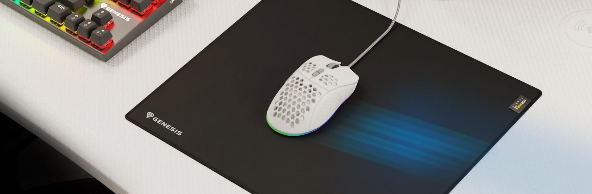 mouse pad genesis carbon 700 cordura xl 450 x 400 mm 5