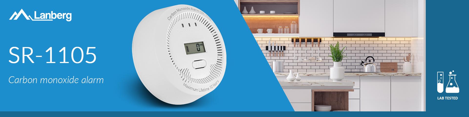 co (carbon monoxide) detector lanberg indoor +bulit-in thermometer 9