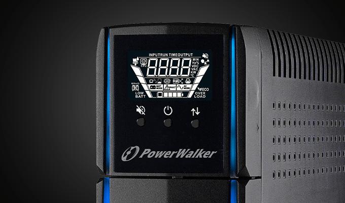 gaming ups line-interactive 1500va power walker, 4x 230v pl, usb, lcd, 2x charger usb, rgb lghting 4