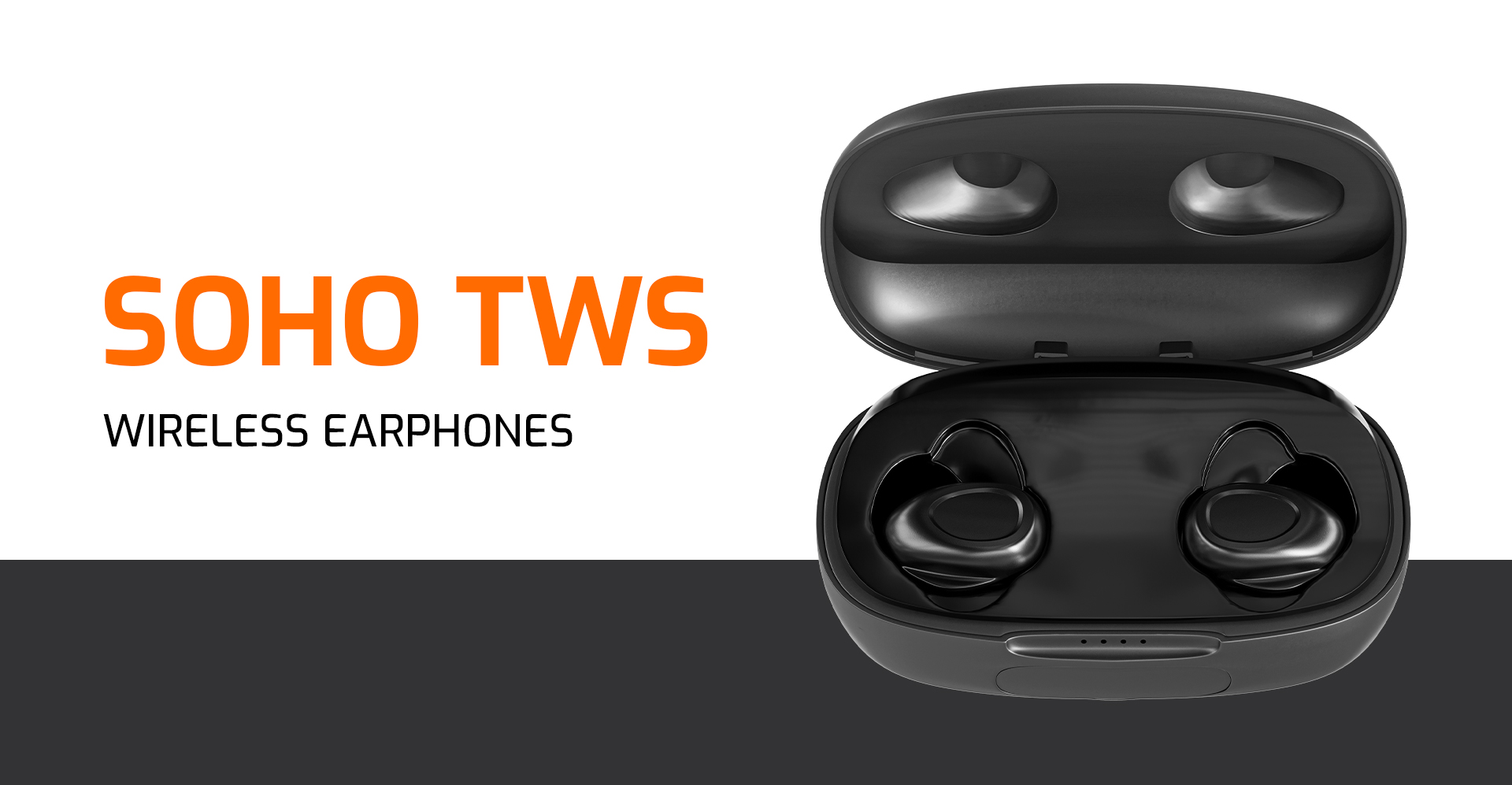 earphones natec soho tws wireless microphone black 1