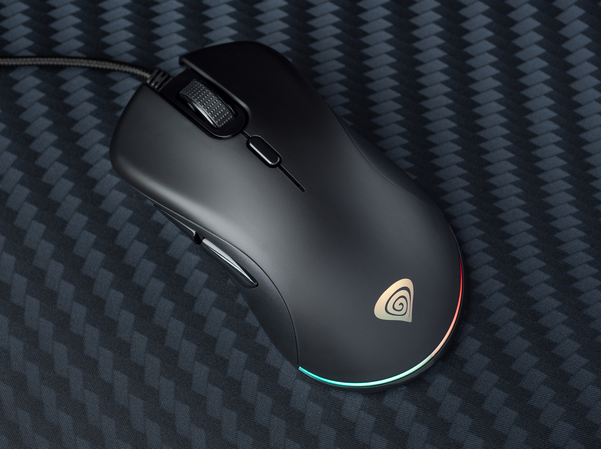 gaming mouse genesis krypton 200 optical 6400dpi with software black silent 5