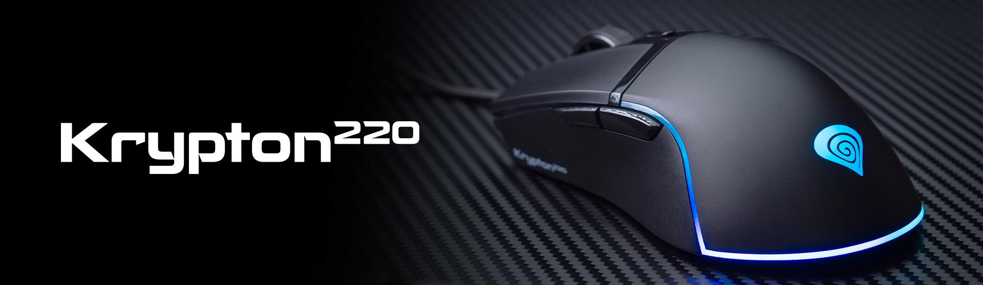 gaming mouse genesis krypton 220 6400 dpi rgb black software 8