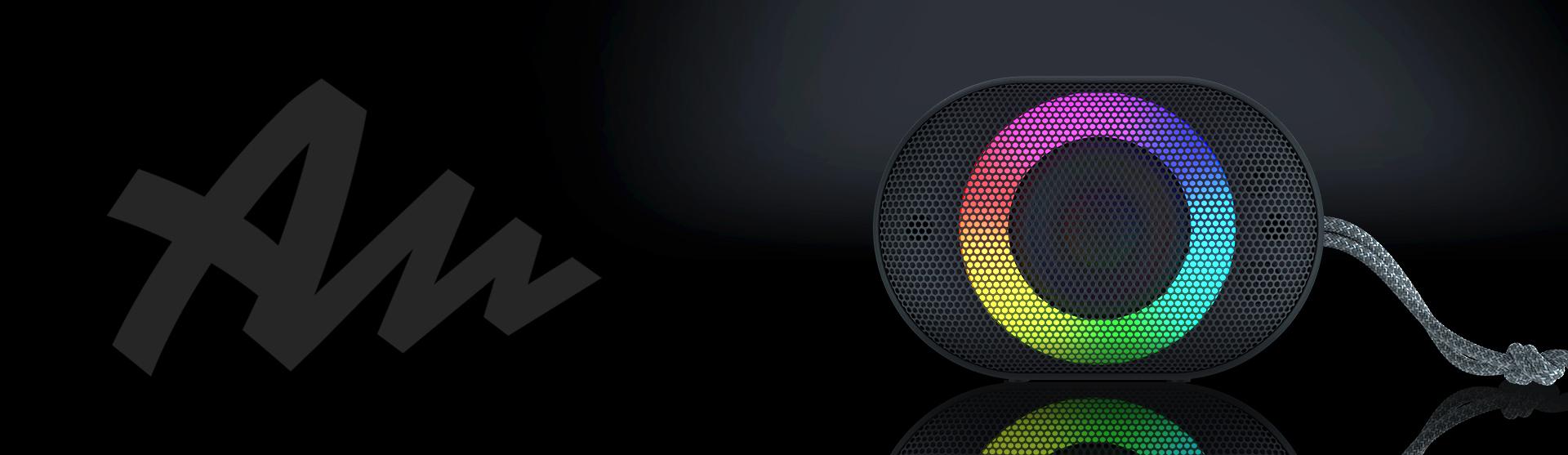 bluetooth speaker audictus aurora mini 7w rgb black 8