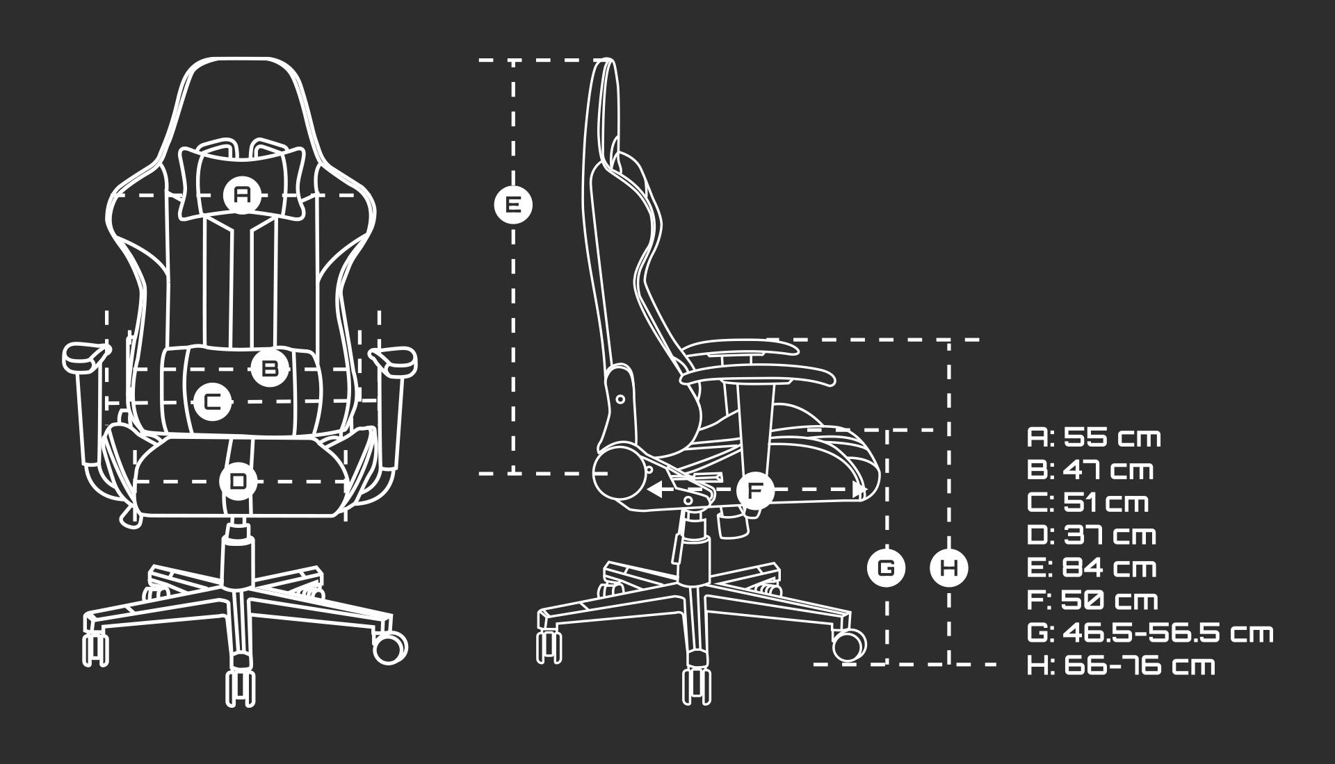 gaming chair fury avenger xl white 10