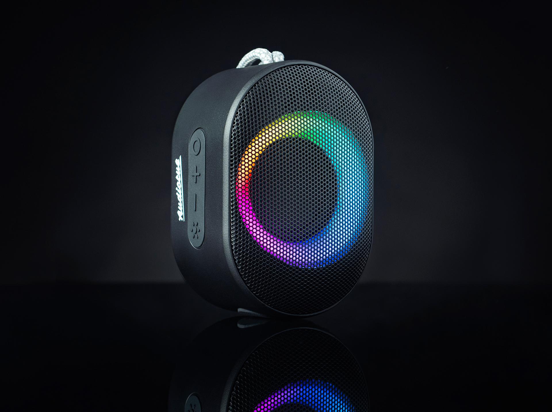 bluetooth speaker audictus aurora mini 7w rgb black 3