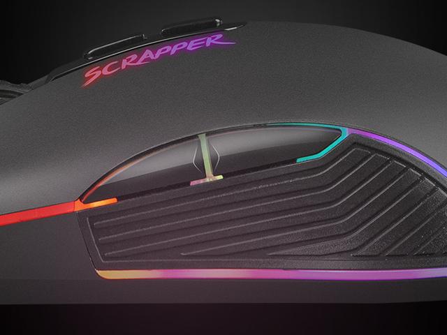 MYSZ DLA GRACZY FURY SCRAPPER 6400DPI PODŚWIETLENIE RGB OPROGRAMOWANIE GAMINGOWA